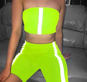 Reflective Striped Casual Tracksuit