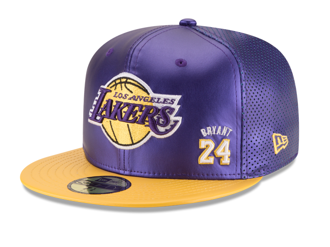 Los Angeles Lakers Limited Edition Kobe Bryant Liquid Metal 5x Champ Fitted Cap