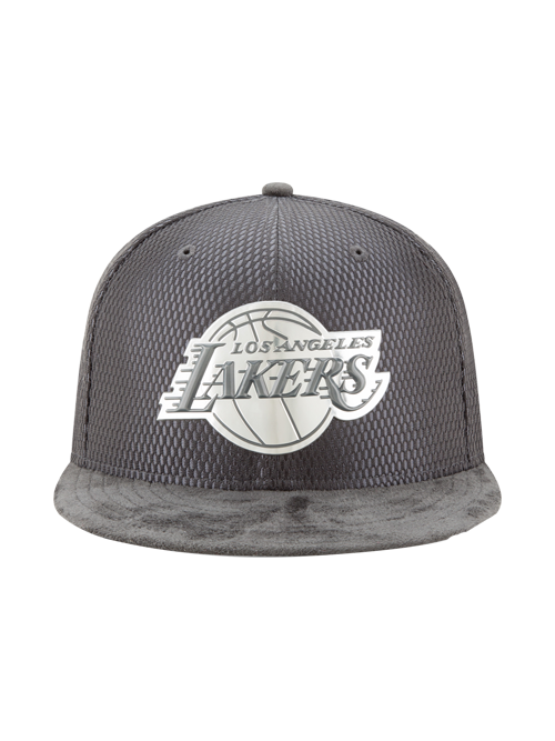Los Angeles Lakers 59FIFTY On Court Lux Mesh Faux Suede Fit Cap
