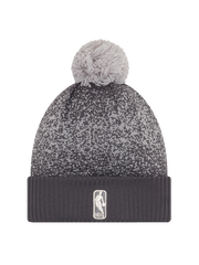 Los Angeles Lakers On Court Graphite Pom Cuff Knit Hat