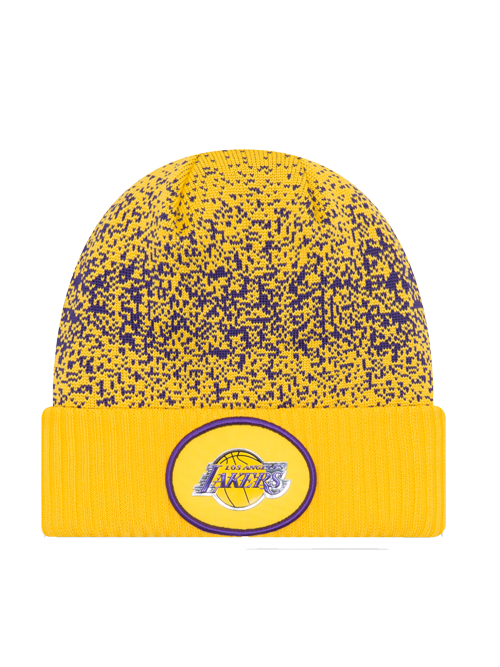 Los Angeles Lakers Youth On Court Reverse Team Cuff Knit Hat