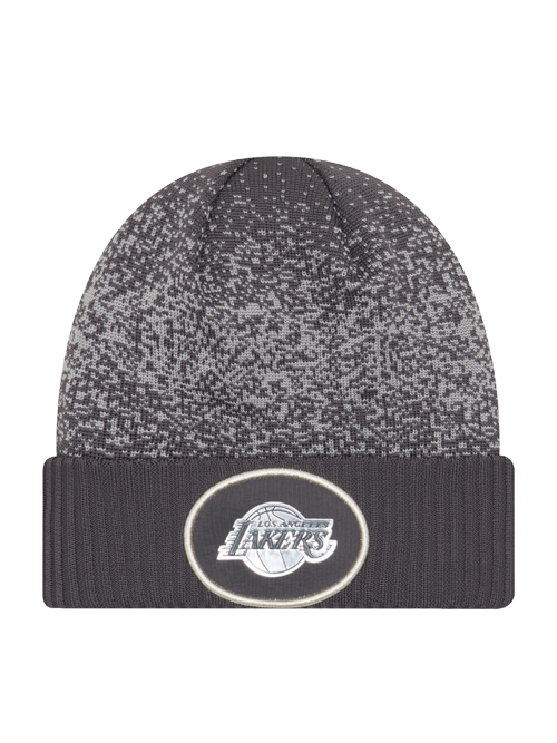 Los Angeles Lakers On Court Graphite Cuff Knit Hat