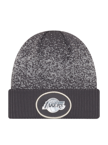 Los Angeles Lakers Youth On Court Graphite Cuff Knit Hat