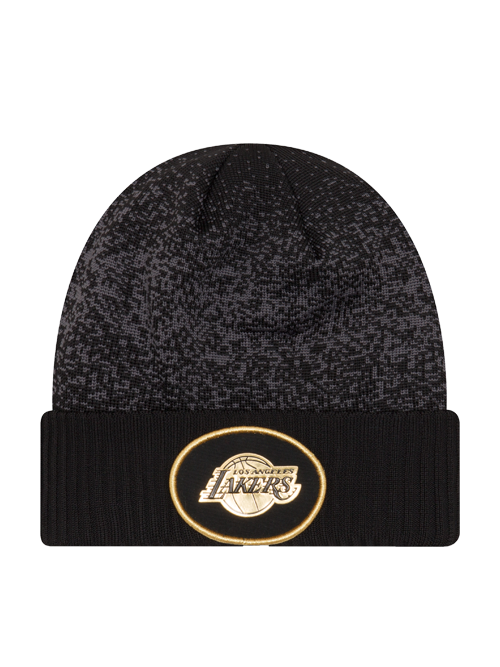 0f37ded784c28b Los Angeles Lakers Youth On Court Black and Gold Cuff Knit Hat – Lakers  Store