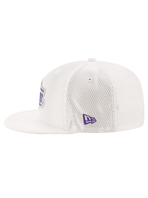 Los Angeles Lakers 2017 Draft 950 On Court Mesh Suede Snapback - White