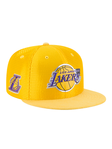 Los Angeles Lakers Youth 9FIFTY On Court Reverse Lux Mesh Faux Suede Adjustable Cap