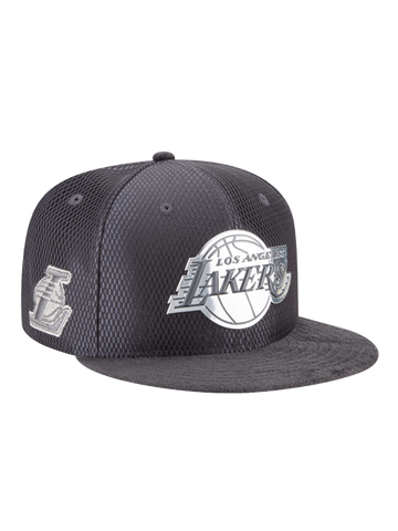 Los Angeles Lakers Youth 9FIFTY On Court Lux Mesh Faux Suede Adjustable Cap
