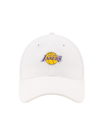 Los Angeles Lakers 2017 Draft 920 On Court Poly Suede Adjustable Cap - White