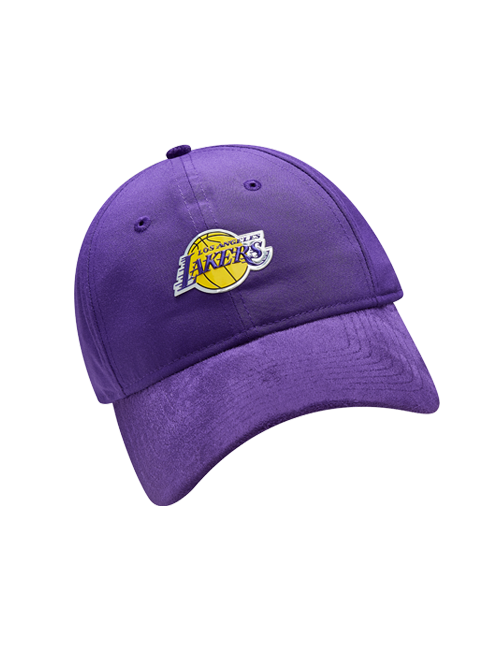 Los Angeles Lakers 2017 Draft 920 On Court Poly Suede Adjustable Cap - Purple