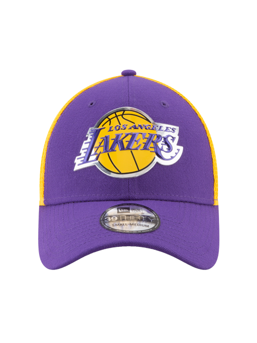 f84bd0559e1 Los Angeles Lakers Youth 39THIRTY On Court Team Flex Fit Cap