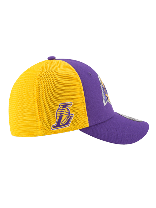 Los Angeles Lakers 39THIRTY On Court Team Flex Fit Cap