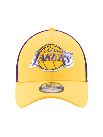 Los Angeles Lakers Youth 39THIRTY On Court Team Flex Fit Cap