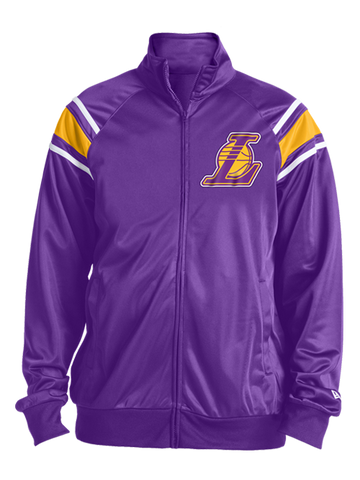Los Angeles Lakers Ranglan Stripes Track Jacket