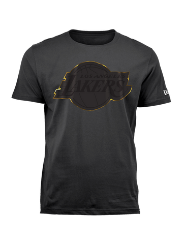 Los Angeles Lakers Gold Foil Outline T-Shirt