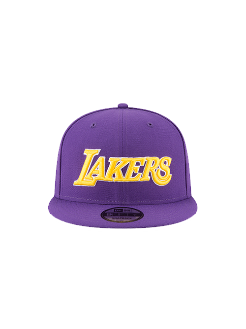 f33b80fa6c9 Los Angeles Lakers 9FIFTY On Court Statement Wordmark Snapback Cap ...