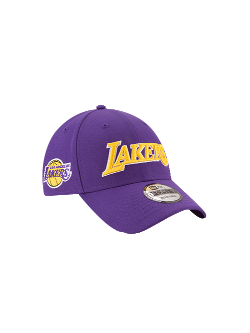 the best attitude 1965c b9b20 Los Angeles Lakers 9FORTY On Court Statement Wordmark Primary Logo Side  Adjustable Cap