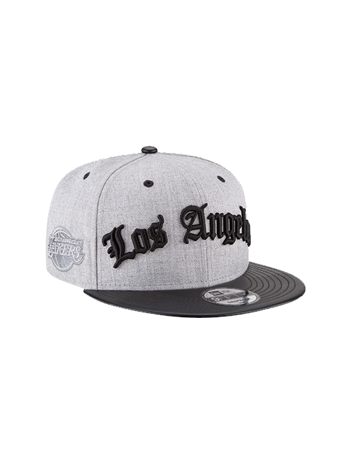 Los Angeles Lakers 9FIFTY Heather Script Classic Snapback Cap