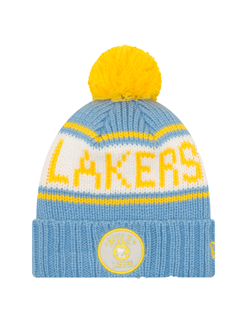 Los Angeles Lakers Minneapolis Retro Patch Pom Knit Cap