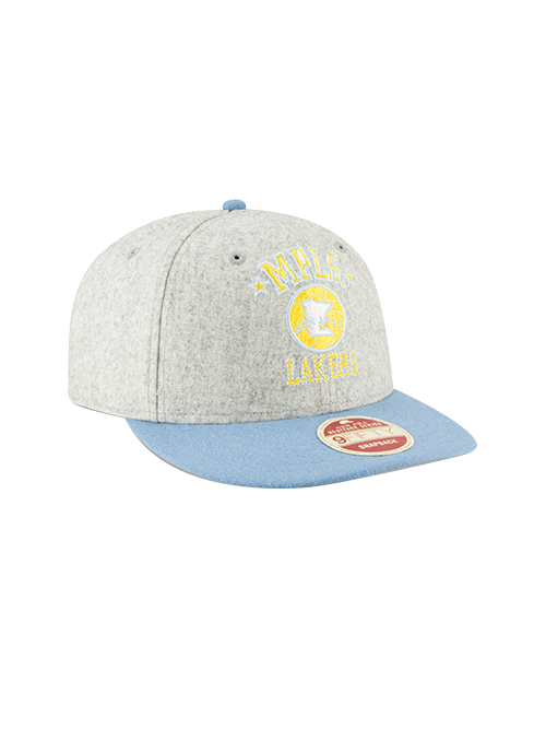 Los Angeles Lakers Melton Throwback Snapback Cap