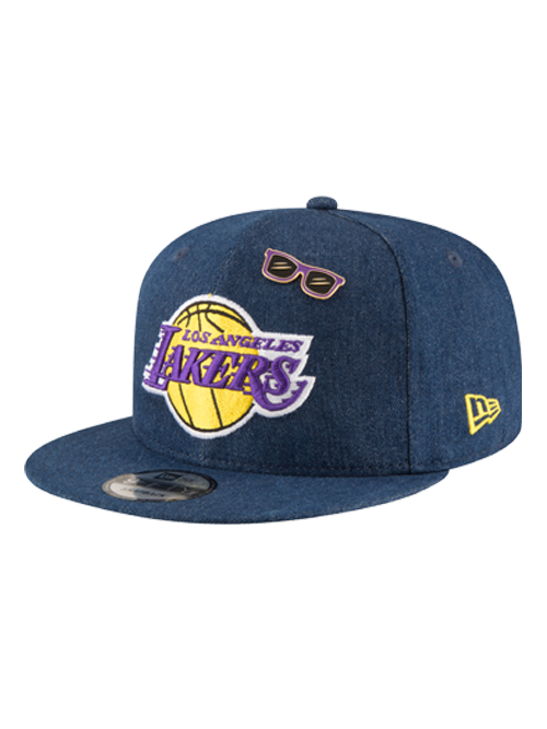 Los Angeles Lakers 2018 Draft 9FIFTY Denim Snapback Cap
