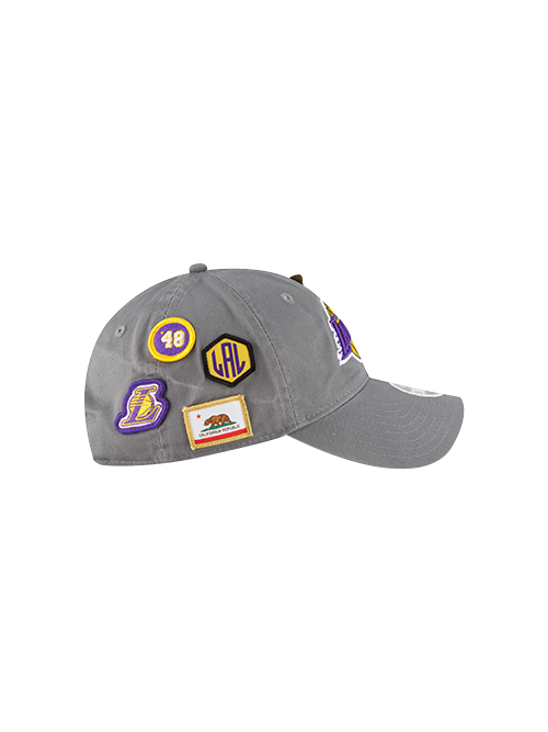 Los Angeles Lakers 2018 Draft 9TWENTY Gray Adjustable Cap