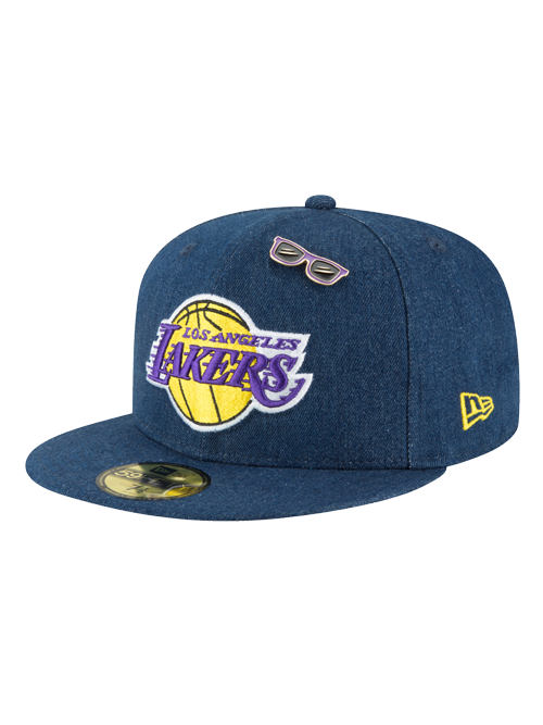 Los Angeles Lakers 2018 Draft 59FIFTY Denim Fitted Cap