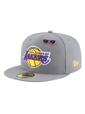Los Angeles Lakers 2018 Draft 59FIFTY Gray Fitted Cap
