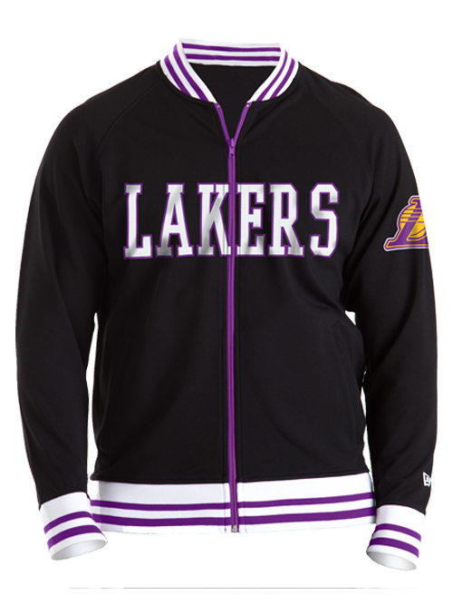 Los Angeles Lakers 3 Point Line Track Jacket - Black