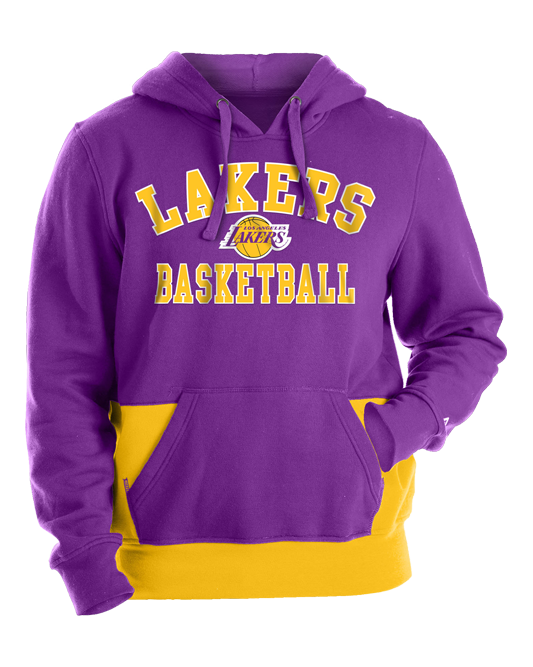 Los Angeles Lakers Contrast Pocket Hoodie - Purple/Gold