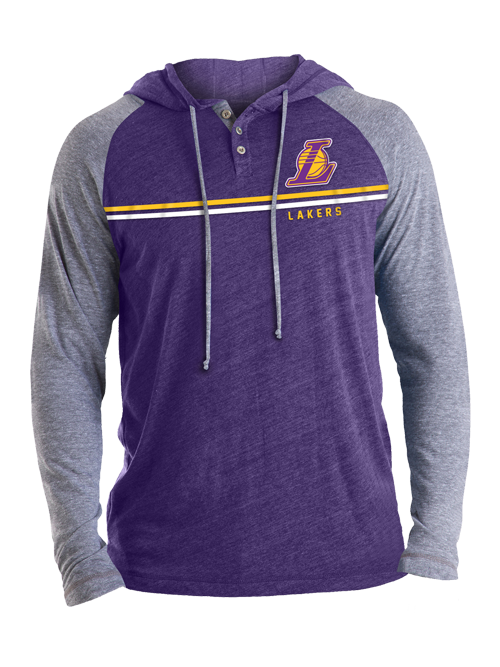 Los Angeles Lakers L Ball Logo Triblend Hoodie