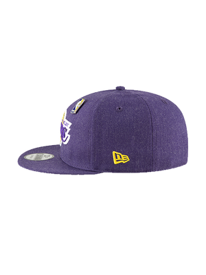 Los Angeles Lakers 9FIFTY Heathered Pin Snapback Cap