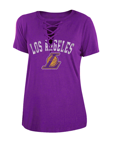 Los Angeles Lakers City Edition Women's Logo Phoebe Short Sleeve Tee - Black