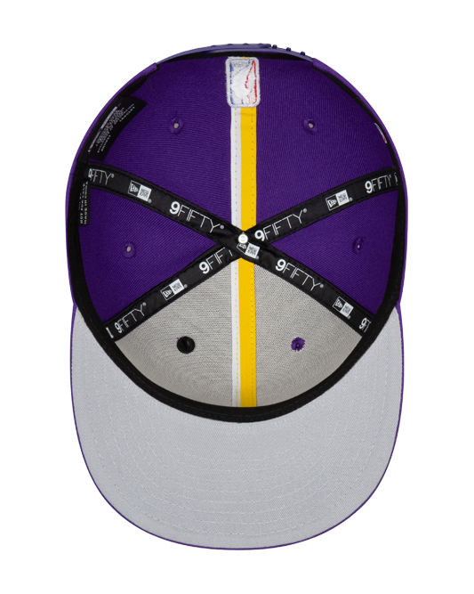 Los Angeles Lakers 9FIFTY Authentic Draft Series Snapback Cap - Purple