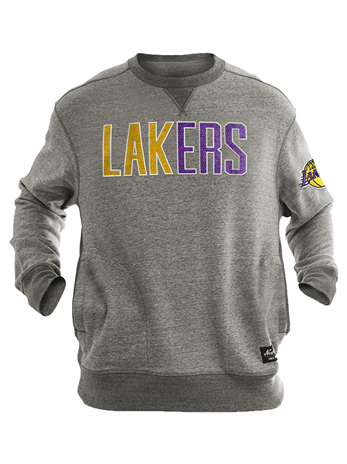 Los Angeles Lakers Block Two Tone Crewneck Sweatshirt