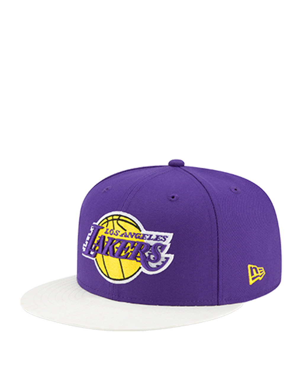 Los Angeles Lakers 9FIFTY Visor Flare UV Act Snapback Cap - Purple