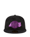 Los Angeles Lakers 59FIFTY Sueded Metal Fitted Cap