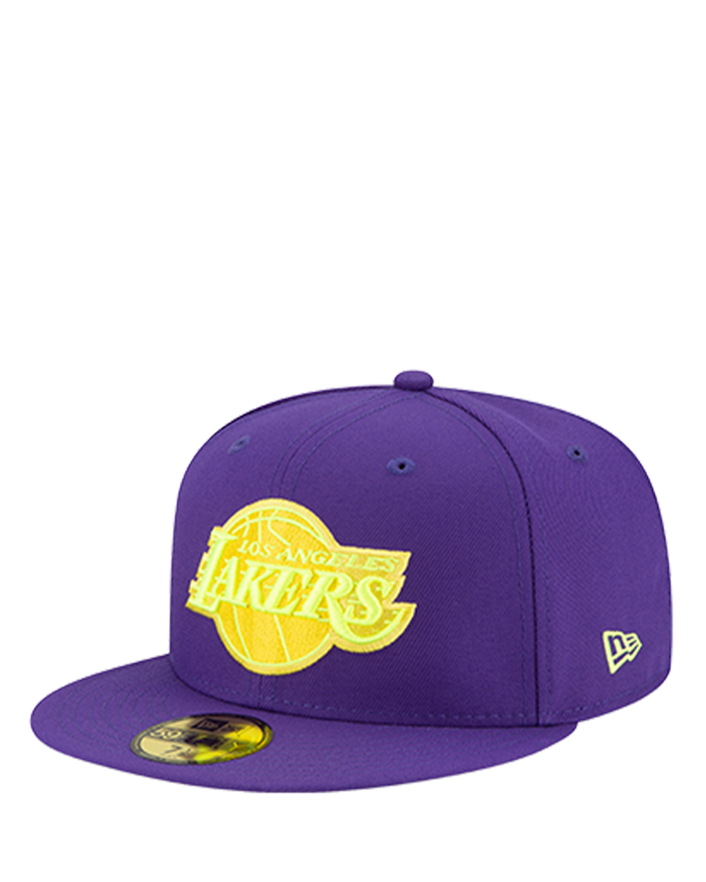 Los Angeles Lakers 59FIFTY Logo Shaded Fitted Cap - Black