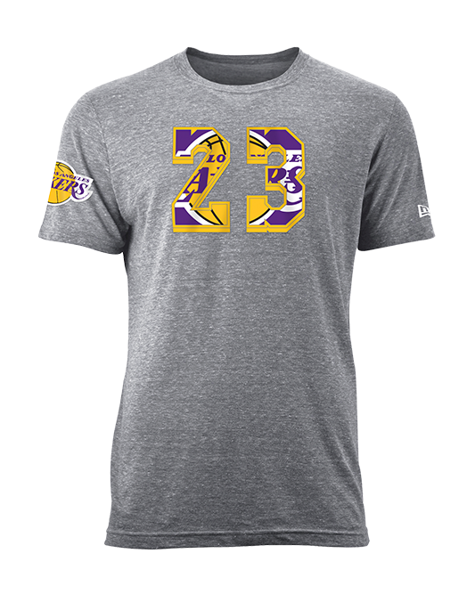 Los Angeles Lakers LeBron James Number Fill T-Shirt
