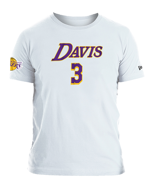Los Angeles Lakers Anthony Davis Logo Flip T-Shirt