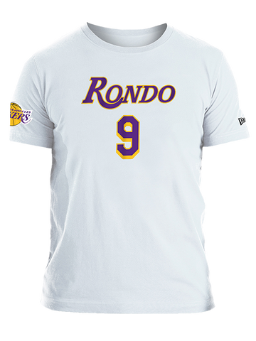 Los Angeles Lakers LeBron James Backer Name & Number T-Shirt