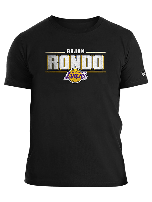 Los Angeles Lakers Rajon Rondo Distressed Name T-Shirt