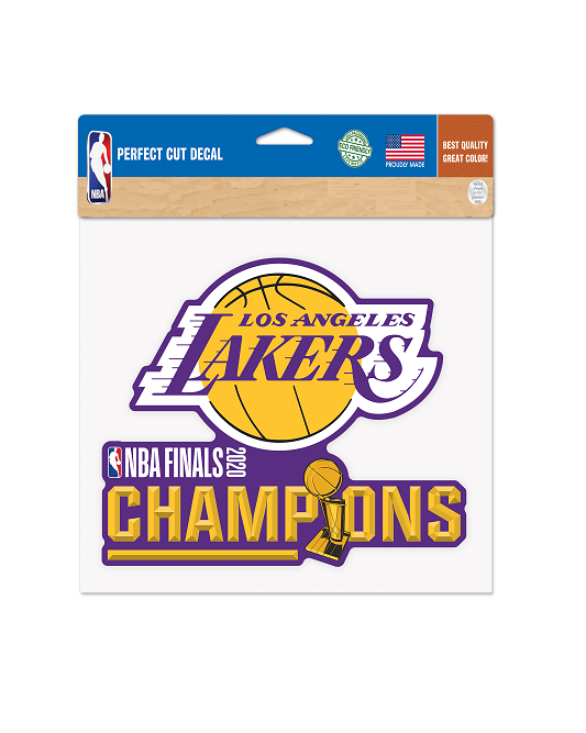 "2020 NBA Champions  8"" x 8"" Los Angeles Lakers Perfect Cut  Decal"