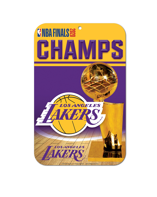 Los Angeles Lakers 2020 NBA Champions Plastic Sign