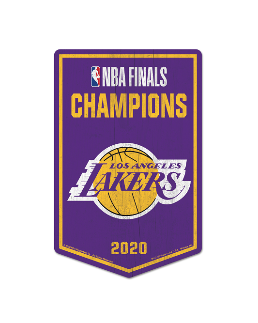 "Los Angeles Lakers 2020 NBA Champions 11"" x 17"" Wood Sign"