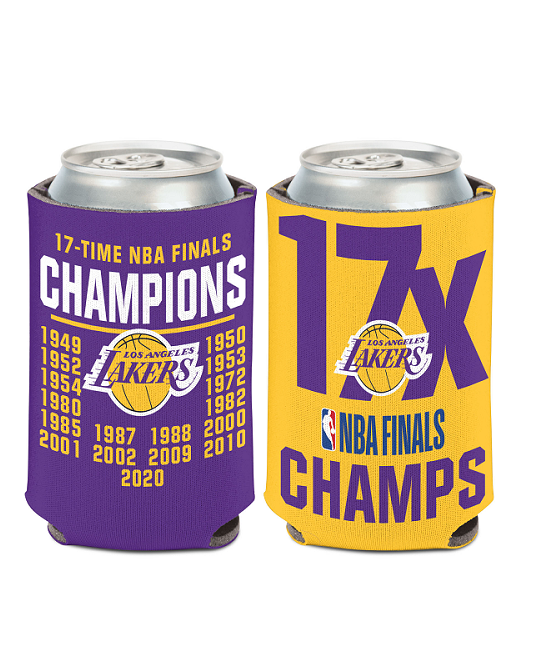 Los Angeles Lakers 2020 NBA Champions 17X Can Cooler