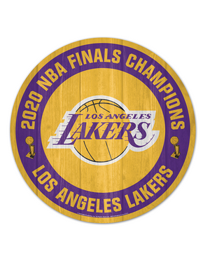 Los Angeles Lakers 2020 NBA Champions Wood Sign