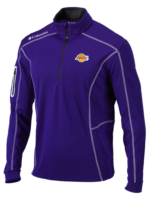 Los Angeles Lakers Purple Shotgun Quarter Zip Fleece