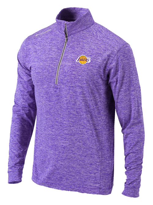 Los Angeles Lakers Purple Power Fade Half Zip