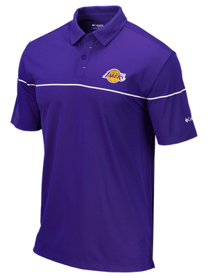 Los Angeles Lakers Breaker Golf Polo - Purple