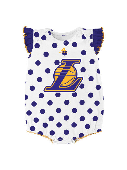 Los Angeles Lakers Infant Girls Polka Fan 2 Pack Creeper Set